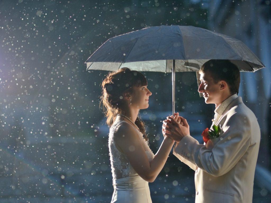 свадьба дождь приметы